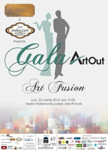 Afis Gala Art Out editia a II-a, 2015 Concept grafic: Ruxandra Diaconu